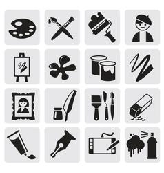 Icons set arts vector image vector image