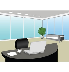 modern office vector image