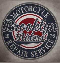 motorcycle custom motorcycle label vintage vector image
