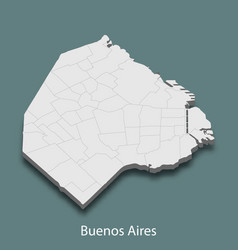 3d isometric map of buenos aires is a city vector