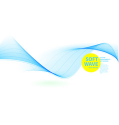 Abstract blue wave template vector