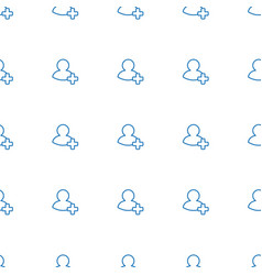 add friend icon pattern seamless white background vector image