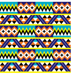 African kente nwentoma cloth pattern vector