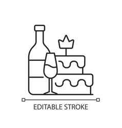 Bachelorette party linear icon vector