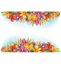 Banners of flowers vector