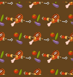Barbecue home seamless pattern background rarty vector