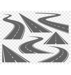 bending roads set vector image
