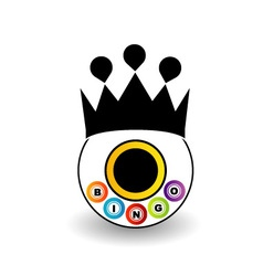 Bingo logo with a crown vector image