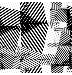 Black and white seamless pattern with parallel vector