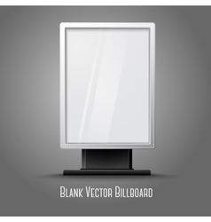Blank white vertical billboard with place for your vector image