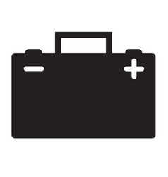 Car battery icon on white background flat style vector