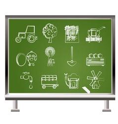Chalk farming industry vector