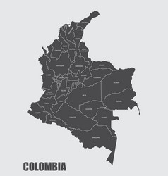 Colombia departments map vector