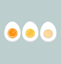 Colorful of boiled eggs vector