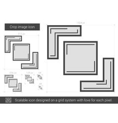 Crop image line icon vector image