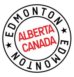 Edmonton stamp typ vector