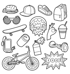 Fashion Patch Set vector