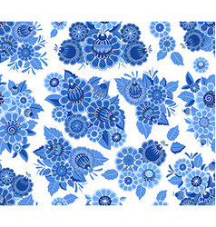 fashion seamless texture with blue stylized vector image