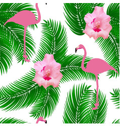 flamingo exotic seamless pattern vector image