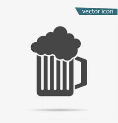 gray beer icon isolated on background modern flat vector image