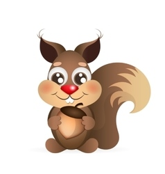 Happy cartoon squirrel vector