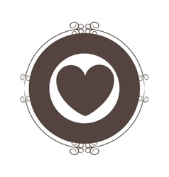 heart seal stamp vector image