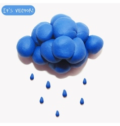Icon of plasticine cloud vector