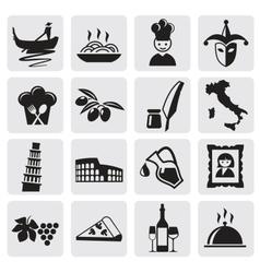 Italian icons vector image