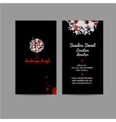 Landscape design vertical business card name card vector