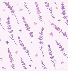 lavender field repeat pattern background vector image