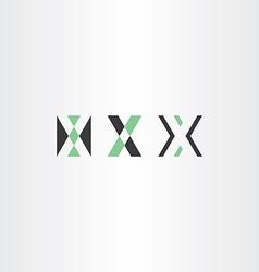 letter x logotype set x vector image