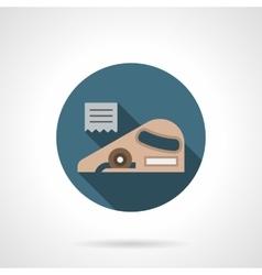 Linoleum service round flat icon vector