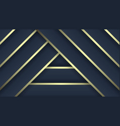 Luxury patterns dark blue and gold gradient vector
