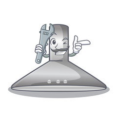 mechanic kitchen hood cartoon the for cooking vector image
