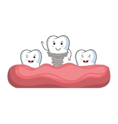 Medical dental care theme design vector image