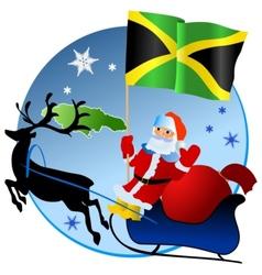 Merry christmas jamaica vector