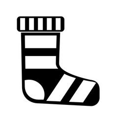 Merry christmas sock icon vector