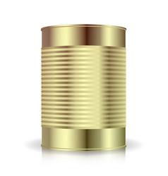metallic cans food tincan ribbed metal tin vector image