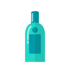 Micellar water for skincare in blue plastic bottle vector