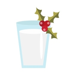 Milk for Santa icon Isolated on white vector image