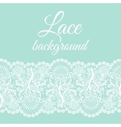 Mint lace border vector