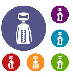 Modern corkscrew icons set vector