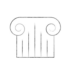 museum column isolated icon vector image