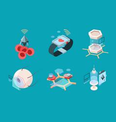 nanotechnology isometric bio modern medical vector image