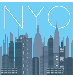 Nyc- panorama of new york city vector