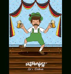 oktober fest card vector image