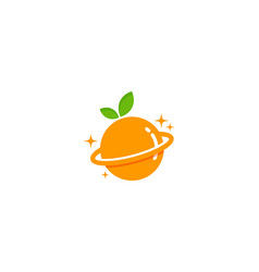 planet fruit logo icon design vector image