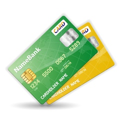 plastic credit cards vector image
