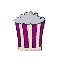 Pop corn box snack food icon vector
