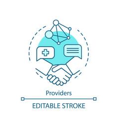 Providers concept icon vector